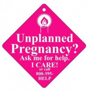 Pregnant- Car Sign