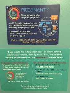 Pregnancy and Sexual Assault Informational Stickers